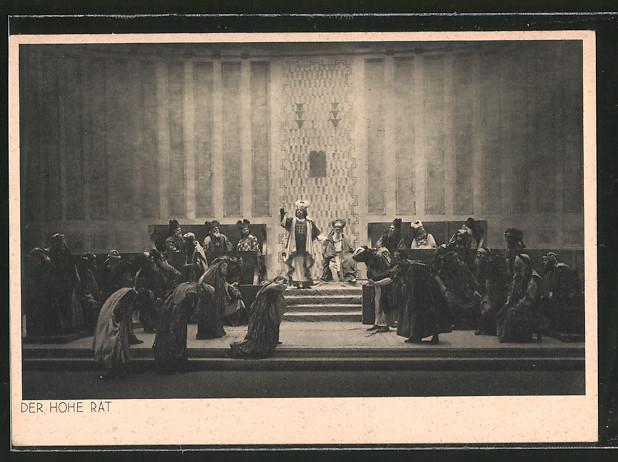 AK Oberammergau, Passionsspiele 1930, Der Hohe Rat