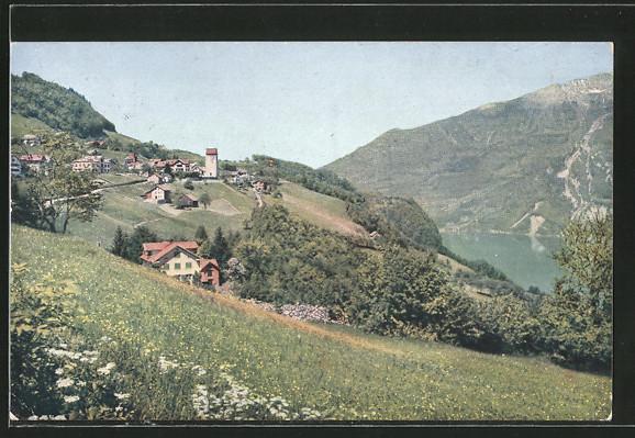 AK Obstalden, Ortschaft mit Wallensee