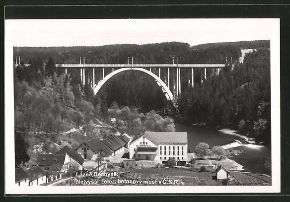 AK Lazne Bechyne, Nejvyssi zelez. betonový most v C.S.R.