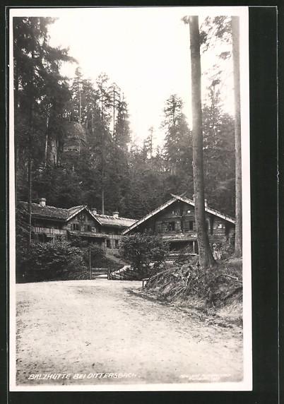 AK Dittersbach / Jetrichovice, Balzhütte