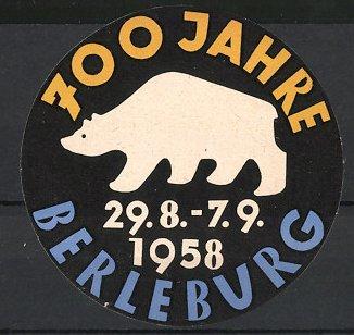 Reklamemarke Berleburg, 700 Jahre 1958, Ortswappen