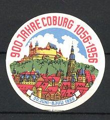 Reklamemarke Coburg, 900 Jahre 1956, Stadtansicht