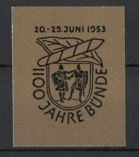 Reklamemarke Bünde, 1100 Jahre 1953, Wappen