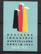 Reklamemarke Berlin, Industrie- Ausstellung 1953, Messelogo