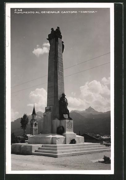 AK Cortina, Monumento al Generale Cantore