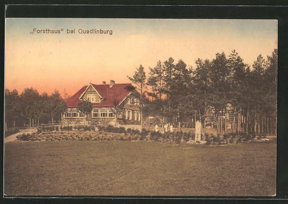 AK Quedlinburg, Blick zum Forsthaus
