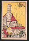 AK Alt-Wien, Minoritenkirche A. D. 1564