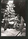 AK Olbernhau, Markt zur Weihnachtszeit