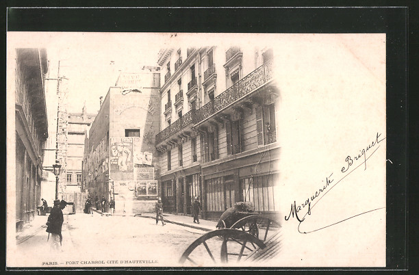 AK Paris, Belagerung Fort Chabrol cité d'Hauteville