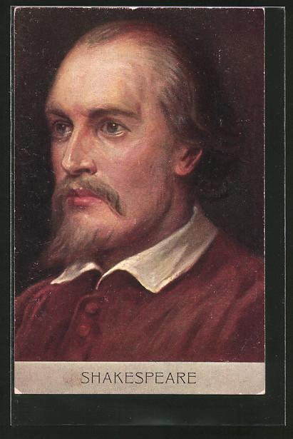 AK Portrait des Schriftstellers William Shakespeare