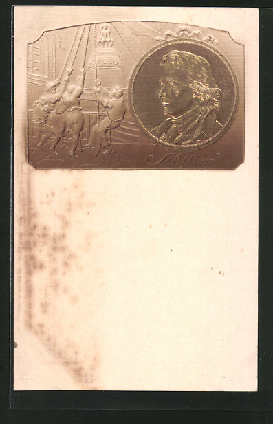 Präge Ak Münze Mit Dem Gesicht Von Friedrich Schiller Nr 6103485