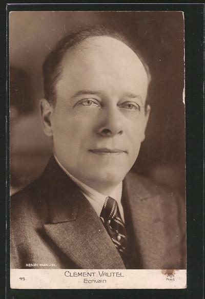 AK Portrait des Schriftstellers Clément Vautel