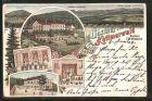 Lithographie Eibau, Gasthaus zum Kottmarwald, Spielplatz, Saal mit Zimmer