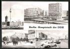 AK Berlin, Karl-Marx-Allee, Fernsehturm, Haus des Lehrers