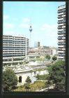 AK Berlin, Blick von der Leipziger Strasse ins Stadtzentrum mit Fernseh- und Ukw-Turm der Deutschen Post