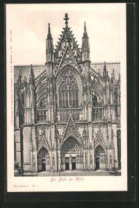 AK Köln, Der Kölner Dom, Blick auf das Portal