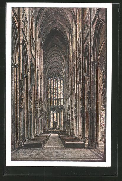 AK Köln, Der Kölner Dom, Innenansicht