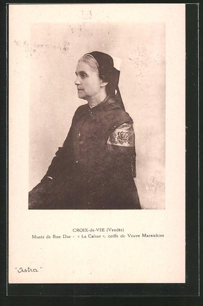 AK Croix-de-Vie, La Caline, Frau in Tracht mit Haube