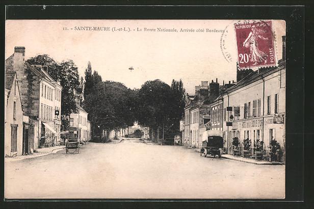 AK Sainte-Maure, la Route Nationale, Arrivée coté Bordeaux 0