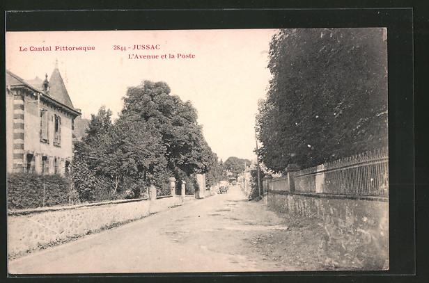 AK Jussac, L'Avenue et la Poste
