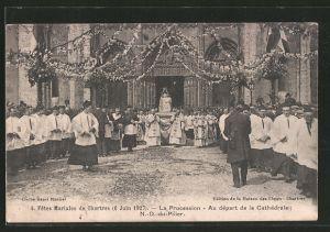 AK Chartres, Fêtes Mariales de Chartres, 6 juin 1927