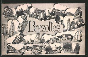 AK Brezolles, Souvenir de Brezolles