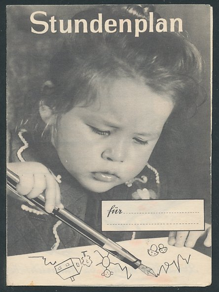 Klapp-Stundenplan Luxor-Füllhalter, kleines Kind malt Strichmännchen