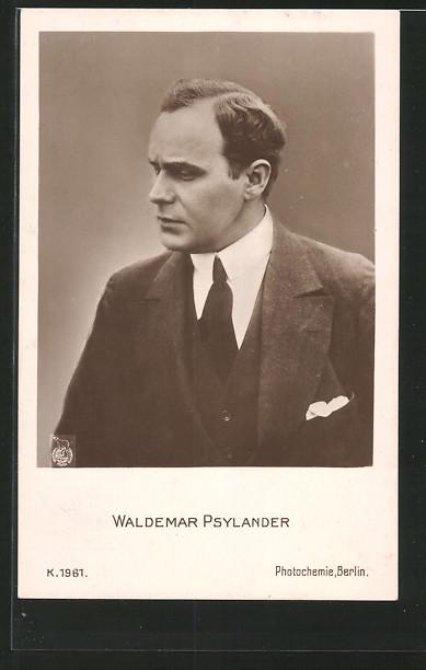AK Schauspieler Valdemar Psilander im Halbprofil