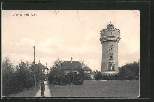 AK Aumühle, Hofriede, Ortsansicht mit Turm