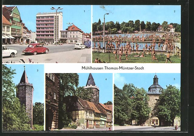 AK Mühlhausen, Wilhelm-Pieck-Platz mit