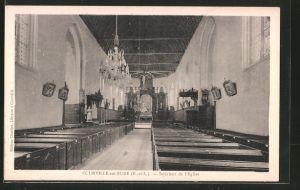 AK Courville sur Eure, Intérieur de l'Église