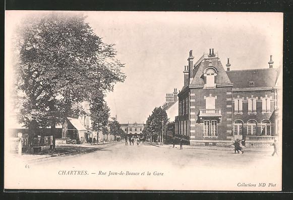 AK Chartres, Rue Jean de Beauce et la Gare