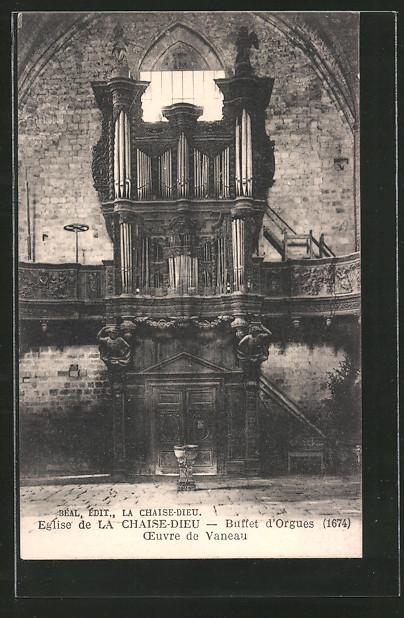 ak la chaise dieu eglise buffet d 39 orgues orgel nr 6136250 oldthing sonstige. Black Bedroom Furniture Sets. Home Design Ideas