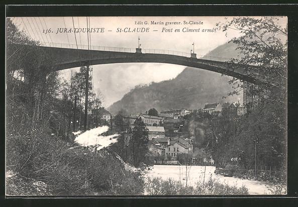 AK Saint Claude, Pont en Ciment armé