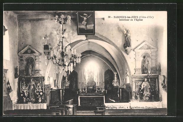 AK Baigneux les Juifs, Intérieur de l'Église