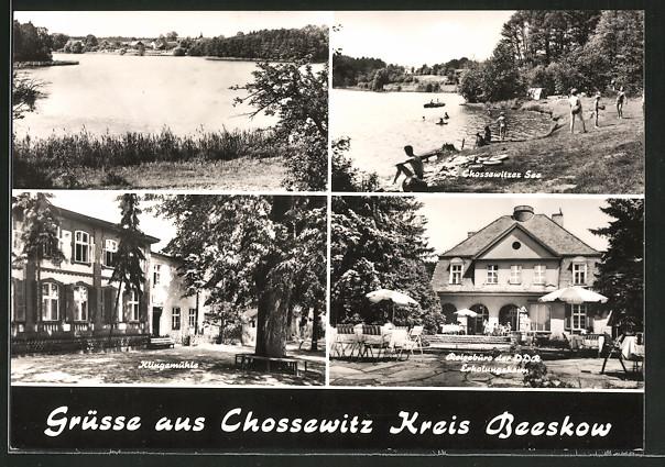 AK Chossewitz, Chossewitzer See, Klingemühle, Reisebüro der DDR - Erholungsheim