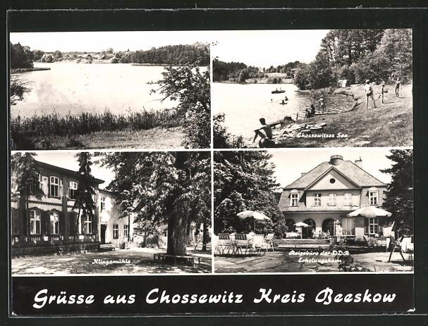 AK Chossewitz, Chossewitzer See, Klingemühle, Reisebüro der DDR-Erholungsheim