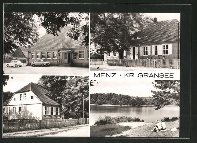 AK Menz, Konsum-Gaststätte, Erholungsheim, Am Roofen-See