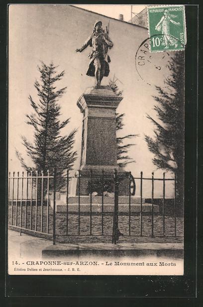 AK Craponne-sur-Arzon, le monument aux morts