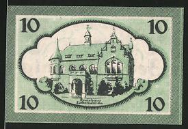 Notgeld Liebenwerda, 10 Pfennig, Kreishaus, Wappen
