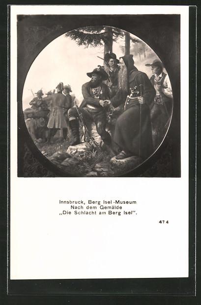 AK Innsbruck, Berg Isel-Museum, Die Schlacht am Berg Isel, Befreiungskriege