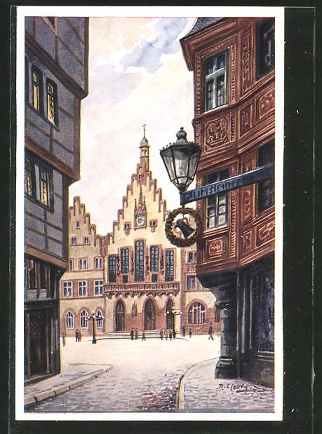 Künstler-AK Bernhard Liebig: Frankfurt a. M., Römer