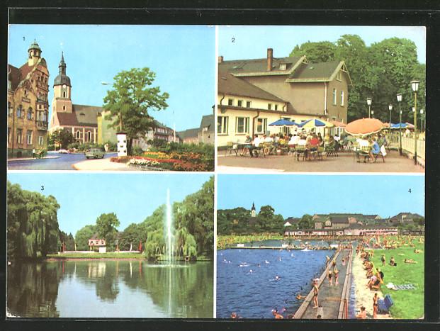 Freibad Taucha ak taucha terrasse der stadthalle bad gondelteich nr 6157182