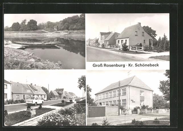 Ak Gross Rosenburg Thomas Müntzer Haus Siedlung Und Partie An Der
