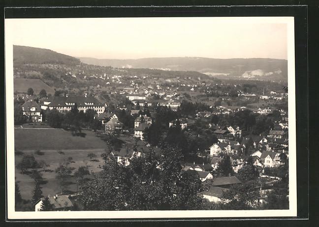 AK Liestal, Ansicht von der Burg Richtung Frenkendorf