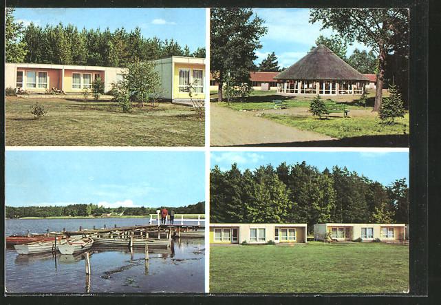 AK Milmersdorf-Ahrensdorf, Gebäudeansichten d. Erholungsheims d. VEB Leuna-Werke Walter Ulbricht