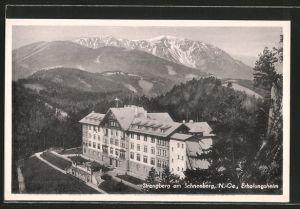 AK Strengberg, Blick auf das Erholungsheim am Schneeberg