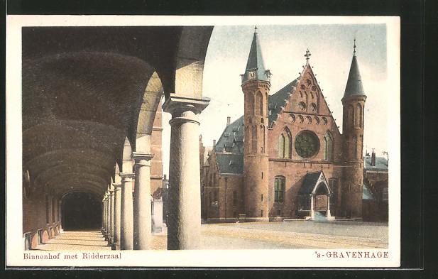 AK s'Gravenhage, Binnenhof met Ridderzaal