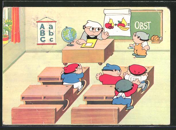 AK Rechenstunde, Mainzelmännchen in der Schule, Zweites Deutsches Fernsehen 1969