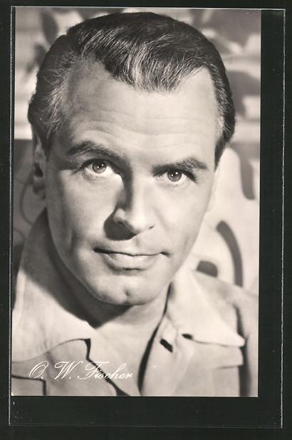 AK Portrait des Schauspielers O.W.Fischer